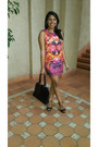 Jorge-dress-pierre-cardin-bag-madison-heels-sass-diva-earrings