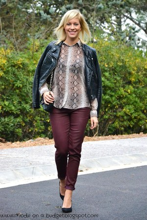 Zara shoes - H&M jacket - Zara blouse - Zara pants