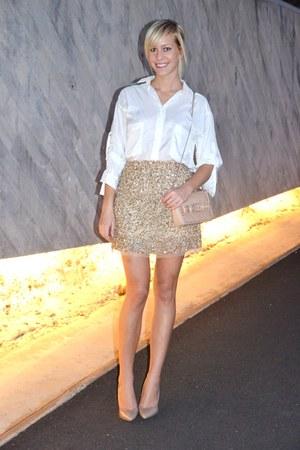Zara skirt - Zara bag - Mango heels - Zara blouse