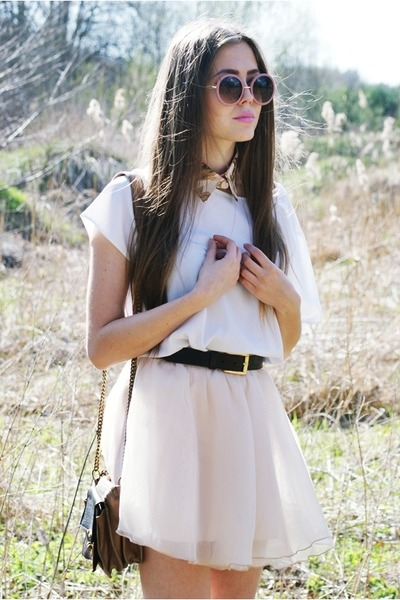 light pink MINUSEY skirt - ivory Secondhand top