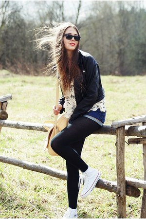 H&amp;M jacket - ray-ban sunglasses - Converse sneakers