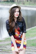 Motel Rocks dress - black Dr Martens jacket