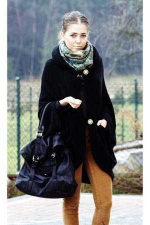 from paris scarf - reserved bag - romwe cape