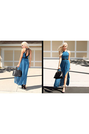 chiffon Im Haute dress - faux leather Im Haute bag - single-sole Im Haute heels
