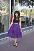 crop top H&M top - vintage skirt