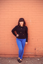 black Suka Clothing sweater - blue coloured denim Hudson jeans