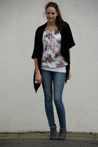 NYer top - noname shoes - pieces jeans - Primark cardigan