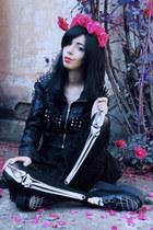 black skeleton print Pretty Guide tights