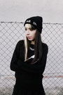Black-bad-hair-day-front-row-shop-hat-black-vateno-sweater