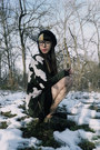 Army-green-creepers-east-clothes-shoes-beige-tattoo-print-tights-please-tights