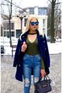 Black-shein-boots-blue-oasap-coat-blue-romwe-jeans-gray-vipme-bag