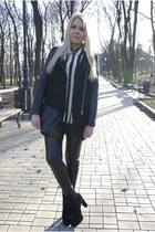 black Choies coat - black Bakers boots