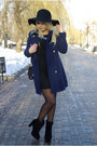 Black-bakers-boots-black-infiniteen-dress-navy-oasap-coat