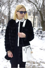 Black-sheinside-dress-black-chicwish-coat-white-blackfive-bag