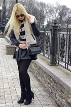 black asos boots - neutral Forever 21 jacket - peach H&M sweater