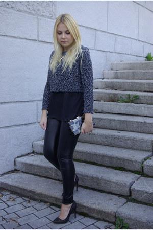black asos heels - black asos pants