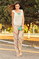 Zara pants - BGN bag - BGN blouse - carlo pazolini sandals