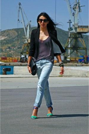 blue Zara sandals