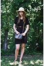 Black-black-thrifted-dress-tan-straw-old-navy-hat-fendi-bag
