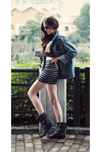 striped nowIStyle skirt - simpsons Redrock t-shirt