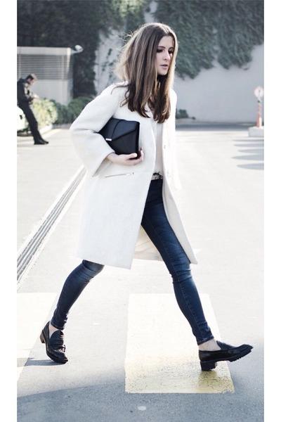 ivory oversized Zara coat