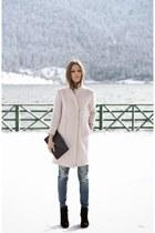 light pink wool Zara coat