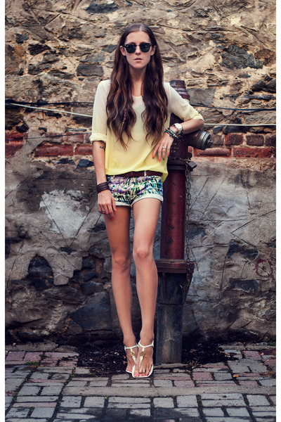 yellow gradient Sheinside blouse