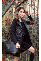 black Sustilo dress - black Chi Styles bag