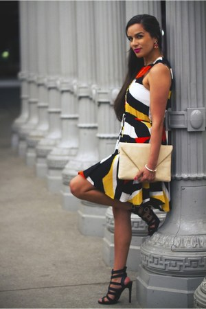 H&M dress - similar Aldo purse - Stella & Dot necklace - Stella & Dot earrings