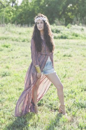 Forever 21 dress - Billabong shorts - Charlotte Russe heels