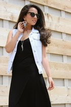 Adi Designs necklace - cotton on dress - zeroUV sunglasses - cotton on vest
