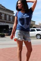 Target bag - 2020AVE shorts - Target t-shirt - Buffalo Exchange heels