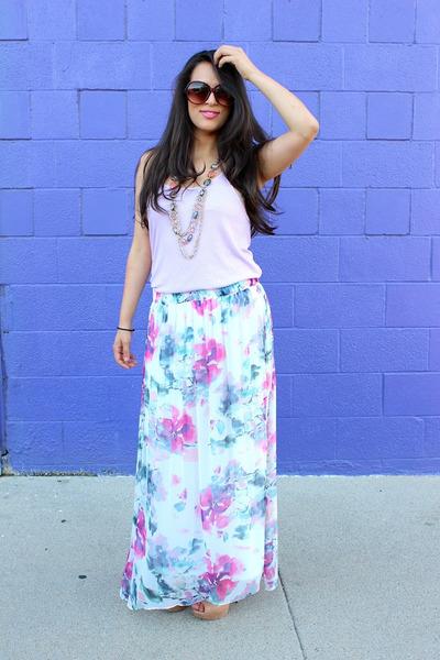 similar Zara skirt - Michael Kors bag - similar Zara blouse - Zigi Soho heels