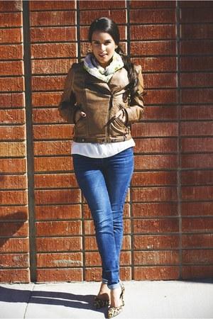 faux leather Sugar Love Boutique jacket - Hudson jeans - n-a