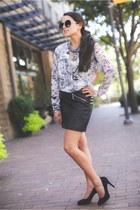 H&M skirt - Le specs sunglasses - similar H&M blouse - Target necklace
