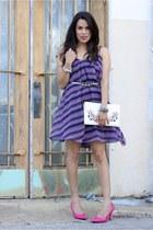 banana republic belt - Express dress - Bebe purse - calvin klein heels
