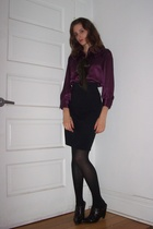 Walter blouse - American Apparel skirt - BCBG shoes