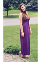 purple maxi Majora dress - gold DIY hair accessory