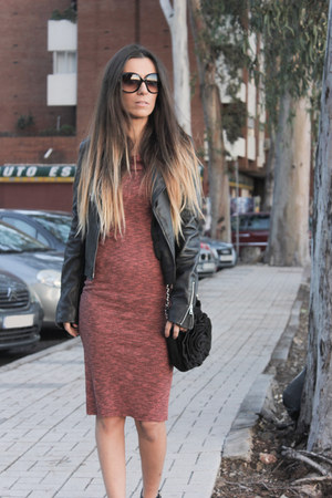 brick red Bershka dress