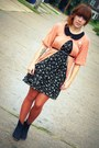 Light-pink-forever21-sweater-black-urban-outfitters-boots-von-maur-dress
