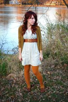 Forever 21 cardigan - Francescas Closet dress - Forever 21 tights - Target belt