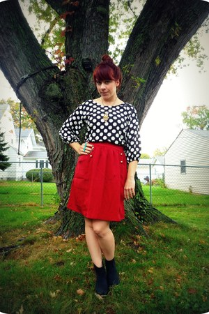 Old Navy blouse - Urban Outfitters boots - modcloth skirt