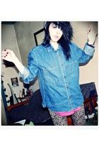 Levi shirt - vintage vest - jeans