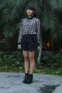 Black-forever-21-shorts-black-topshop-blouse-black-forever-21-wedges