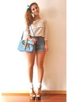 sky blue Lapalette bag