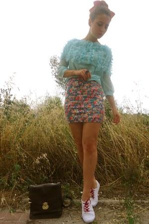 aquamarine wholesale-dressnet sweater - dark brown Massimo Dutti bag - amethyst