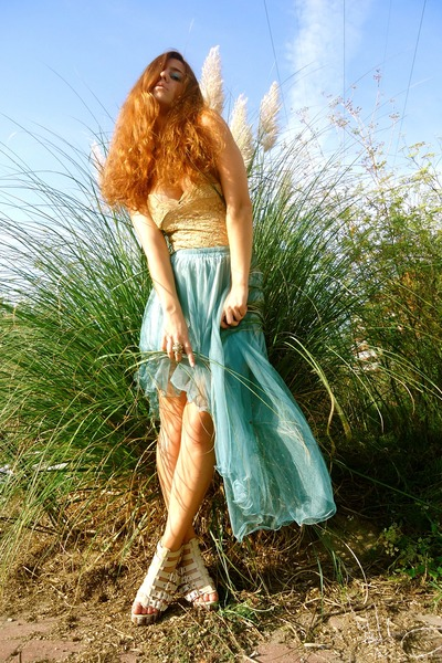 turquoise blue yesstylecom skirt