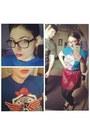 Blue-reedpop-t-shirt-maroon-forever-21-skirt