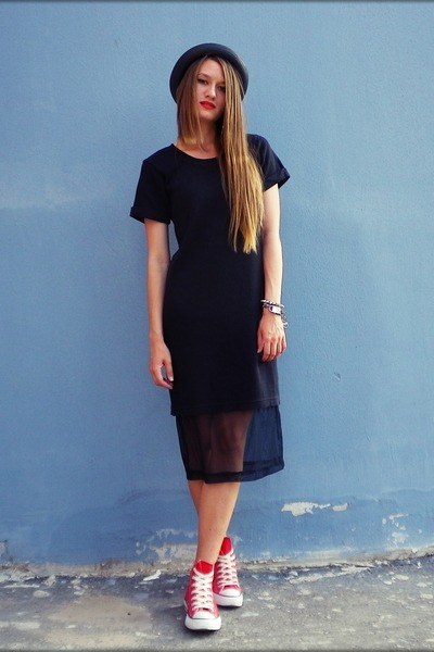 asos dress - Converse sneakers