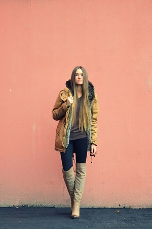light brown Bershka coat
